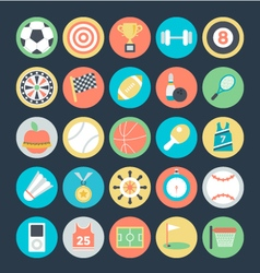 Sports Colored Icons 1 vector image