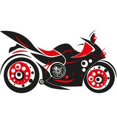 Stylized moto isolated icon vector