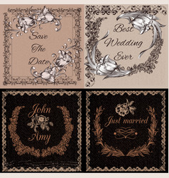 templates or cards in vintage style vector image