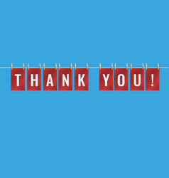 Thank you letters pinned to string with pegs vector
