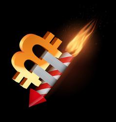 The concept of falling bitcoin vector