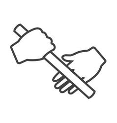 Thin line estafet run icon vector