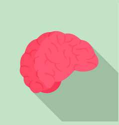 thinking brain icon flat style vector image