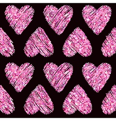 Valentines Day Heart Glitter Pattern vector