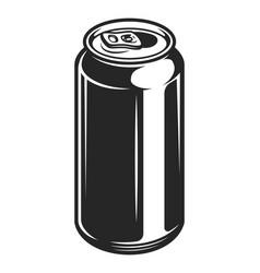 vintage aluminum beer bank concept vector image