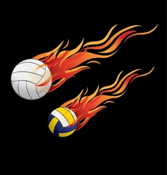 Volleyball fire vector