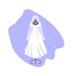 wedding dress on mannequin vector image