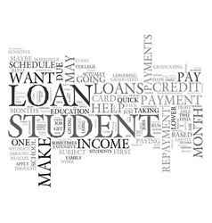 what to do when a student loan is subject to vector image