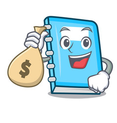 with money bag education character cartoon style vector image
