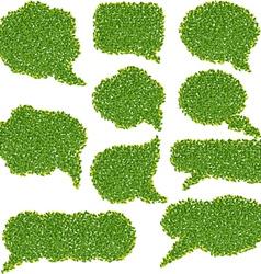 Banner speech bubbles vector image vector image