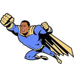 Black flying superhero vector
