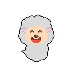 cute sheep animal character funny vector image
