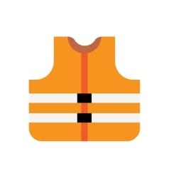 Orange safety vest vector image