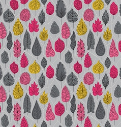 Seamless pattern with colored autumn leaves on a vector image vector image