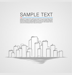 sketch city landscape background vector image