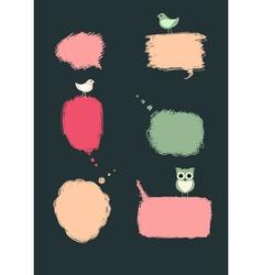 Speech bubbles with birds vector image