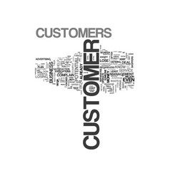 what to do when customers complain text word vector image vector image