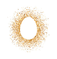 easter egg on glitter background vector image vector image