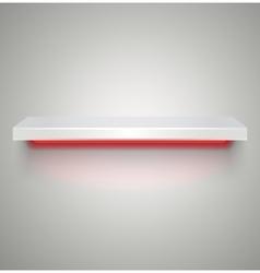 Empty illuminated shelve vector image