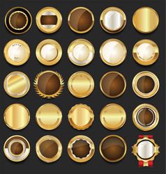 luxury badges and labels with laurel wreath vector image
