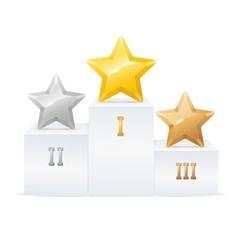 Pedestal Star Award Set vector image vector image