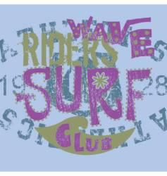 surf club vector image vector image