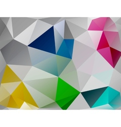 Triangle background Colorful polygons vector image vector image