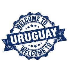 uruguay round ribbon seal vector image vector image