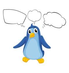 A penguin with empty callouts vector image