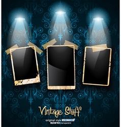 antique distressed photoframes vector image