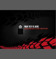 Automotive tire background vector