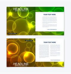 business brochure design template flyer vector image