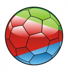 eritrea flag on soccer ball vector image