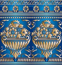 flower gold seam vector image