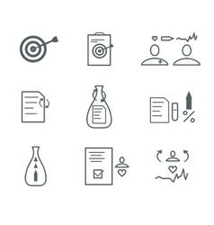 medical flat icons set vector image