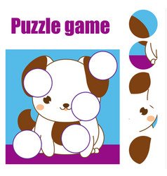 puzzle for toddlers children educational game vector image