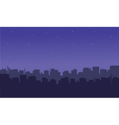 Silhouette of the city with a star vector image vector image