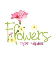 Tropic paradise Flowers vector image vector image