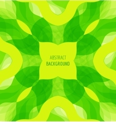 Abstract green waves background with banner vector image vector image