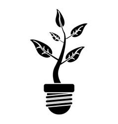 ecology plant leaf nature pictogram vector image