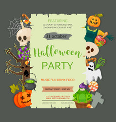 Halloween banner template Place for your text vector image