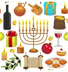 hanukkah celebration pattern vector image