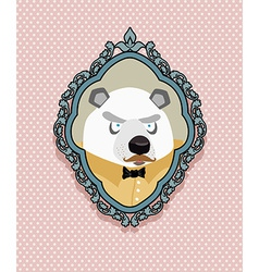 Portrait of a panda bear with a mustache in a vector image vector image