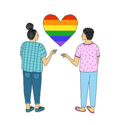 a pair young people with their hands raised vector image