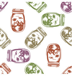 adventure jar bottle seamless pattern vector image