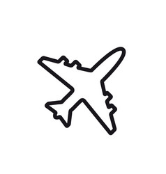 airplane line icon plane symbol and sign vector image
