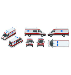 ambulance car an emergency medical service vector image