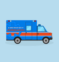 ambulance car side view emergency medical service vector image
