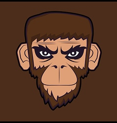 Angry cartoon chimp monkey vector