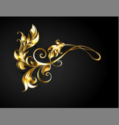 Asymmetric gold frame scroll vector